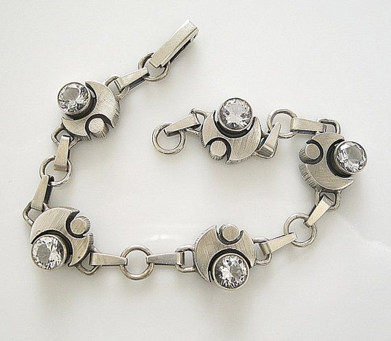 Karl Laine Sterling Silver Vintage Bracelet by RosieLenaJewelry