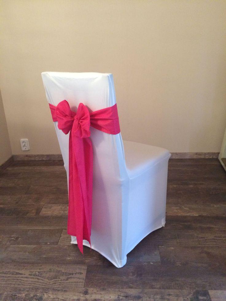 Bérelhető spandex székszoknya ciklámen színű selyem masnival Érd