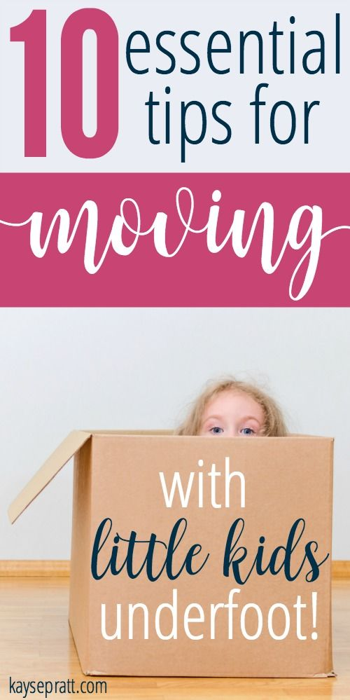 Everything you need to know when you're moving with little kids. You'll find a…