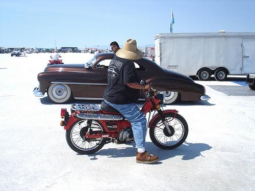 Vintage Honda pit bikes @ Bonneville Salt Flats