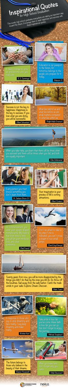 High School Graduation Quotes http://www.connectionsacademy.com/resources/instructographics/high-school-graduation-quotes.aspx