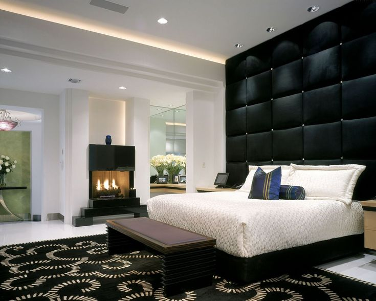 this glamorous black and white bedroom was completed by wm l construction luxefl white bedroomsmaster - Black And White Interior Design Bedroom