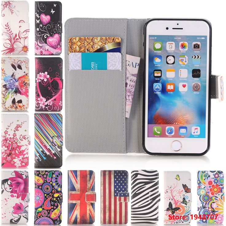 For iPhone iphine 4 4s 5 5s SE 6 6s 6Plus 6s Plus Arts Print Vintage Tower Luruxy Wallet PU Leather Flip Cover Cases