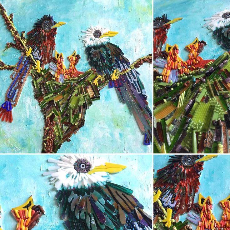 """27 Me gusta, 1 comentarios - Viviana Valiente M. (@vivitova) en Instagram: """"Nesting #mosaicartist #mosaicglass #vivivaliente #houston #vivitova"""""""