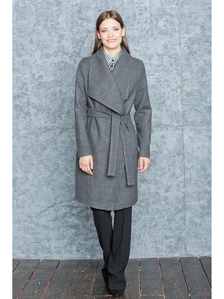 Пальто Levall. Цвет серый.