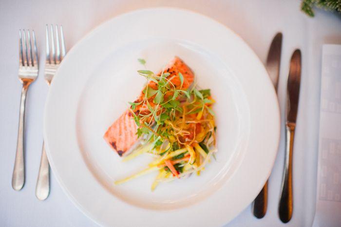Lime & Vodka Cured Salmon Stacks with Crisp Root Vegetable Lattice
