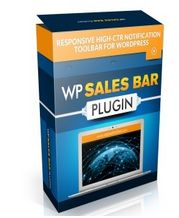 "WP Sales Bar Plugin ""This Wordpress plugin gives you an eyeball-grabbing notification toolbar that will boost your conversions."""