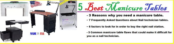 5 Best Manicure Tables - A REVIEW [Nail tables, Nail desk, Nail Station]. These technician nail tables have been rated as the best 5 by designsAuthority.com when it comes to giving a nice look to your nail salon or home.
