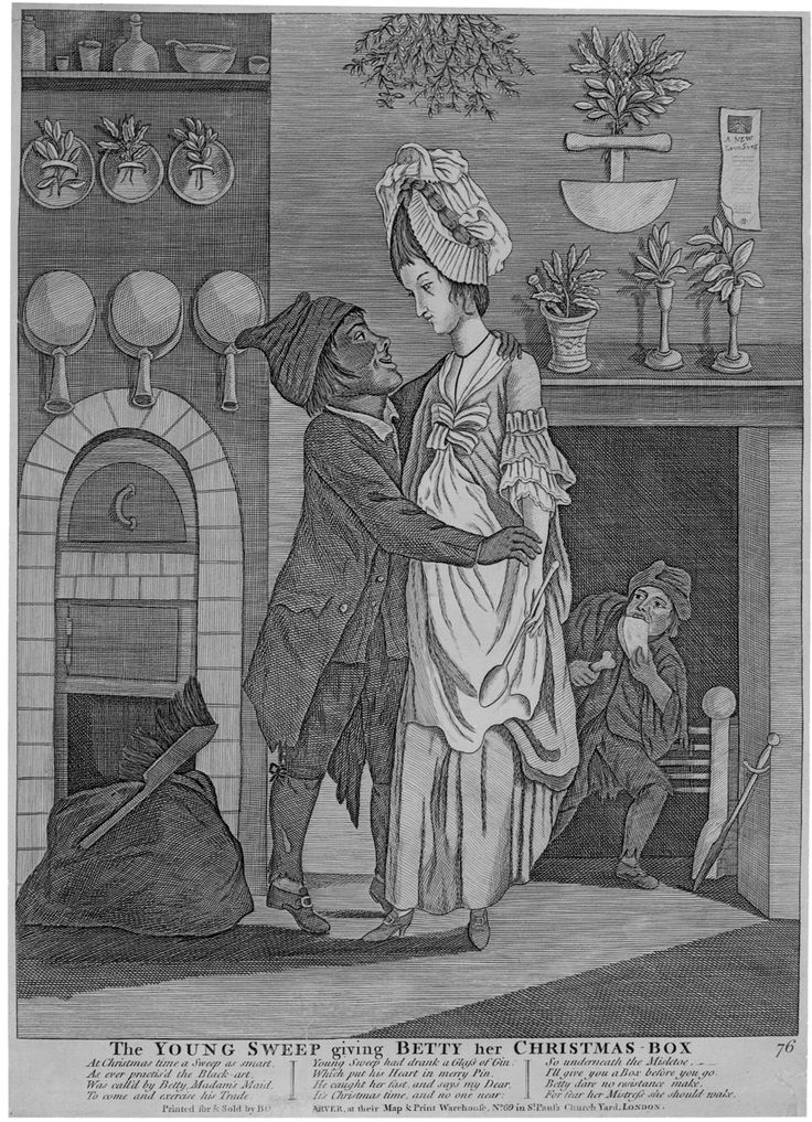 The YOUNG SWEEP giving BETTY her CHRISTMAS BOX, 1770-1780, Winterthur 1973.0584: