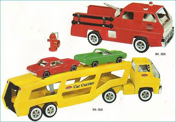 Tonka cars.