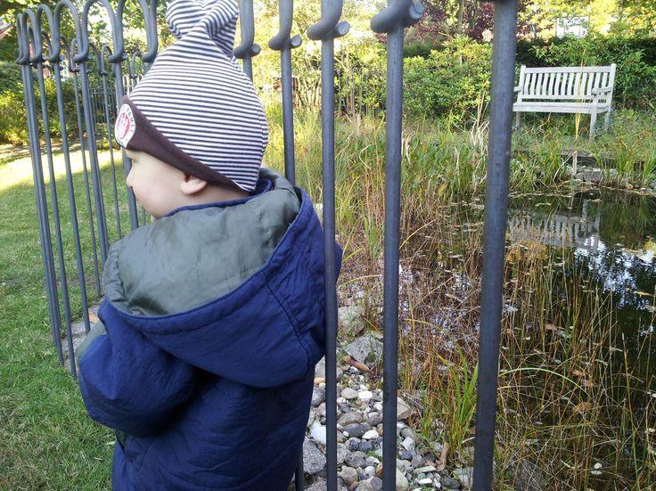 der Teichzaun light ist für ein Kleinkind ein unüberwindbares Hindernis. Weitere Infos und Preise: http://www.teichzaun.de/light-Teich-Steckzaun.php