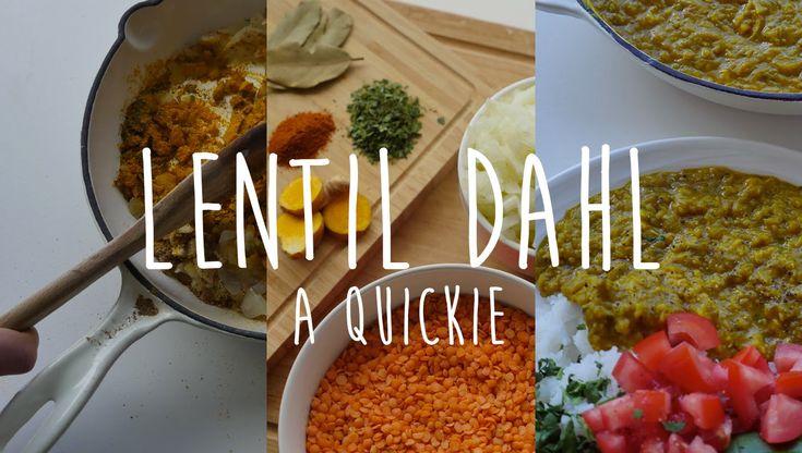 Lentil Dahl Recipe | Quickie || HCLF Vegan