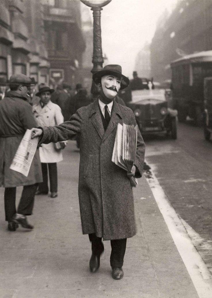 1929: Newspaper seller, Paris
