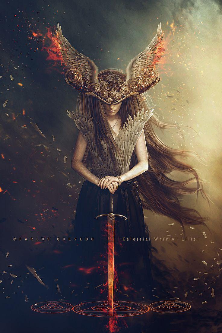 Celestial Warrior Liliel by Carlos Quevedo.