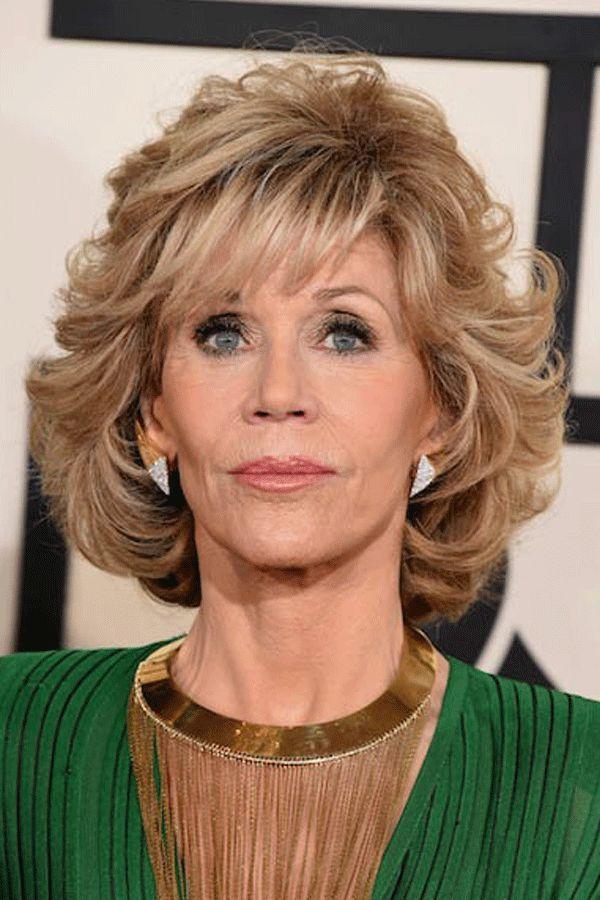 Fashion Jane Fonda Style Medium Loose Wave Layered Synthetic Hair Capless Wig 12 Inches