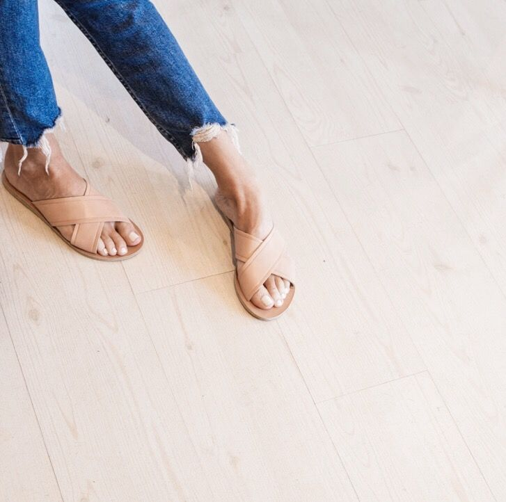 Ancient Greek Sandals | tan cross over leather sandal