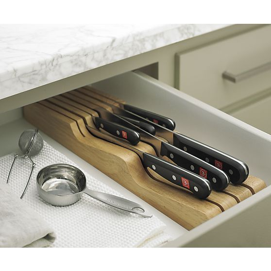 Wüsthof® Gourmet 7-Piece In-Drawer Knife Set | Crate and Barrel