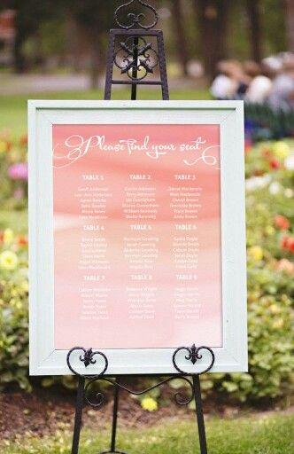 The beautiful Waterflower Seating Chart nicely framed. Shop it at www.loveandink.com.au