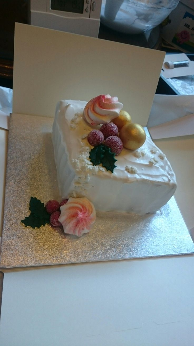 Christmas cake decorated