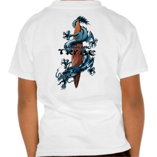 Trybe Dragon Surfboard Illustration Tees