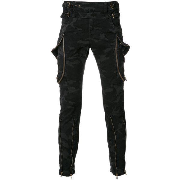 Faith Connexion camouflage punk trousers ($1,662) ❤ liked on Polyvore featuring men's fashion, men's clothing, men's pants, men's casual pants, black, mens camo pants, mens camouflage pants and mens punk pants