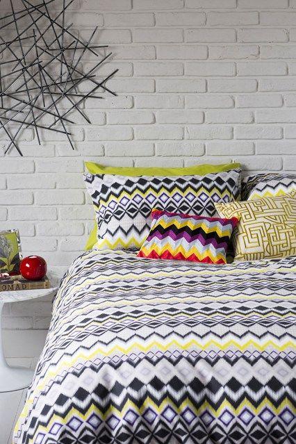 Bold Graphics Bedroom - (houseandgarden.co.uk)