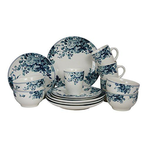 Elama 16 Piece Traditional Rose Dinnerware Set, Blue Elama https://www.amazon.com/dp/B01MROWEKC/ref=cm_sw_r_pi_dp_x_uI.GzbKT9167C