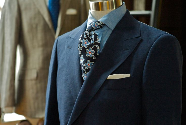 Drake's London floral tie