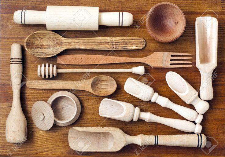 Les 25 meilleures id es de la cat gorie ustensiles de - Ustensiles de cuisine en bois ...