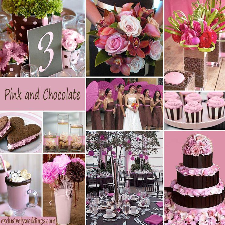 pink and brown wedding | deweddingjpg.com