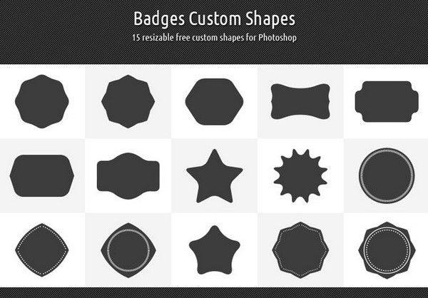 Fresh Collection of Free Photoshop Shapes