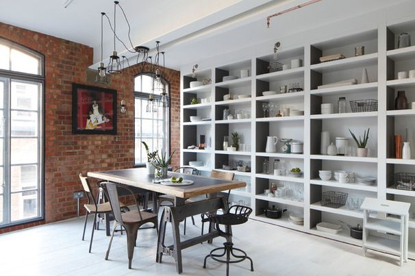 Industrial Dining Room by Oliver Burns