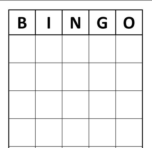 the blank custom bingo card template  bingo blog in 2020