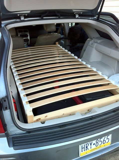 25 Camping   Outdoor IKEA Hacks for Summer.  Ikea Station Wagon Bed    Build a bed in the back of a station wagon with this fun hack using a Dalselv twin bed, with Sultan Lillaker slats.  Get the how-to here!