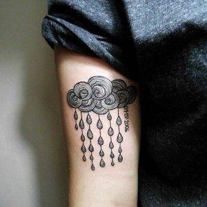 Line Cloud Tattoo Design