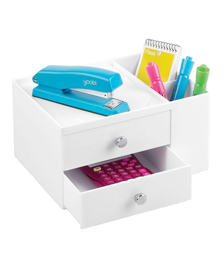 Two Drawer U0026 Side Organizer Desk Storage Box