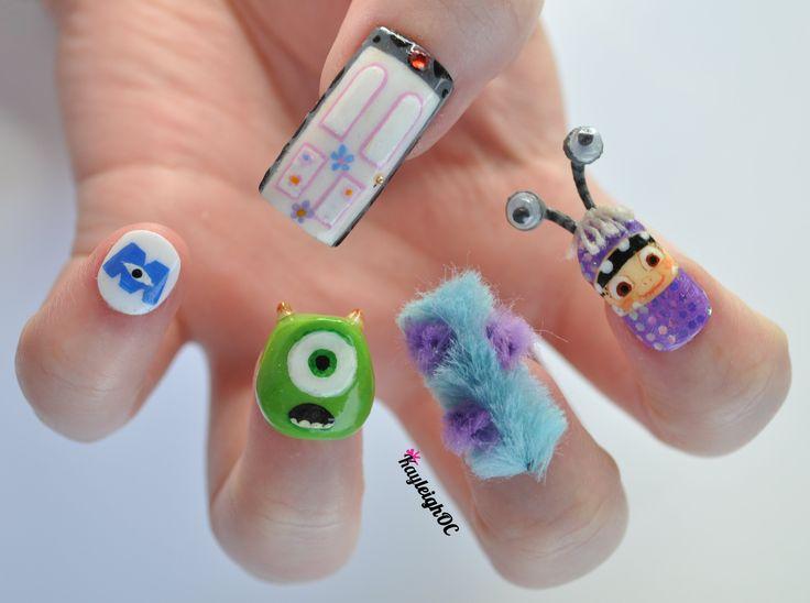 Monstre et compagnie nail art