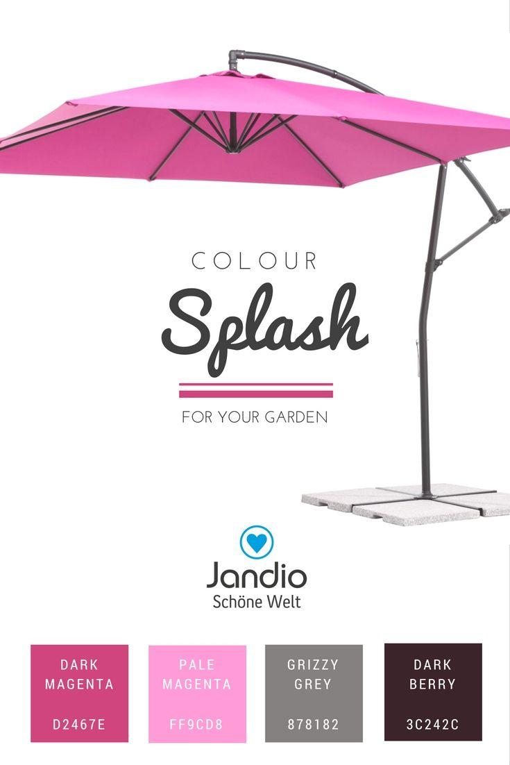 Farbenfroh, Sommer, Sonne, Spaß für Balkon, Garten, Terrasse mit Schneider Sonnenschirm in strahlendem magenta, colour your life