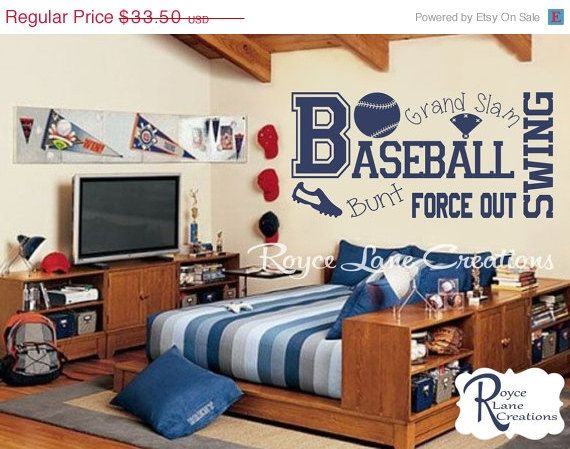 Vacation Sale Baseball Wall Decal B13 Sports By RoyceLaneCreations