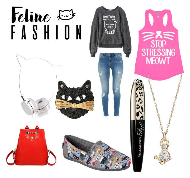 """""""feline fashion"""" by shannongarner ❤ liked on Polyvore featuring Charlotte Olympia, Skechers, Wildfox, Ted Baker, Skinnydip, L'Oréal Paris, Betsey Johnson and LC Lauren Conrad"""
