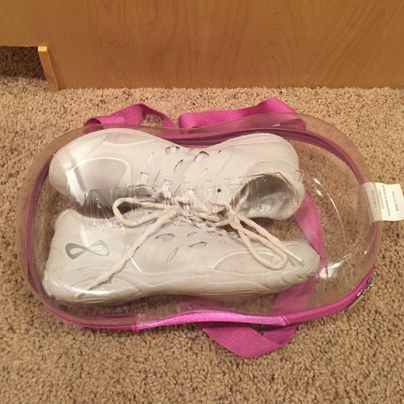 Nfinity cheer shoes - Halo Defiance Barely worn cheer shoes, still have a fresh shoe smell- I quit cheer and had these shoes for only a couple weeks.... Great deal considering the brand Infinity is very expensive -Shoe quality was amazing and helped with my jumps/tumbling. Definitely worth the purchase!! Nfinity Cheer Shoes  Shoes Athletic Shoes