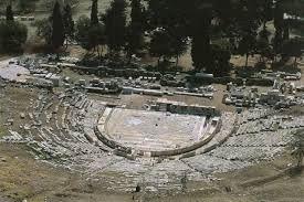 Teatro di Dioniso dell'Acropoli di Atene, cosrtuito nel 338.-326 a.C.
