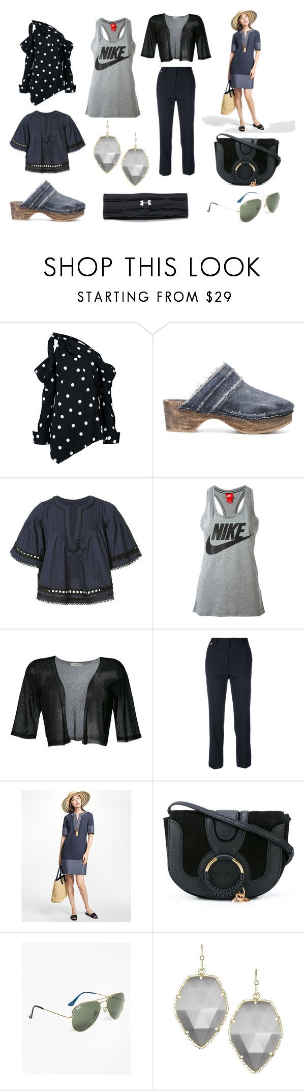 """Day Of New Fashion"" by donna-wang1 ❤ liked on Polyvore featuring Monse, MM6 Maison Margiela, 10 Crosby Derek Lam, NIKE, D.Exterior, Paul Smith, Brooks Brothers, See by Chloé, Kendra Scott and Under Armour"