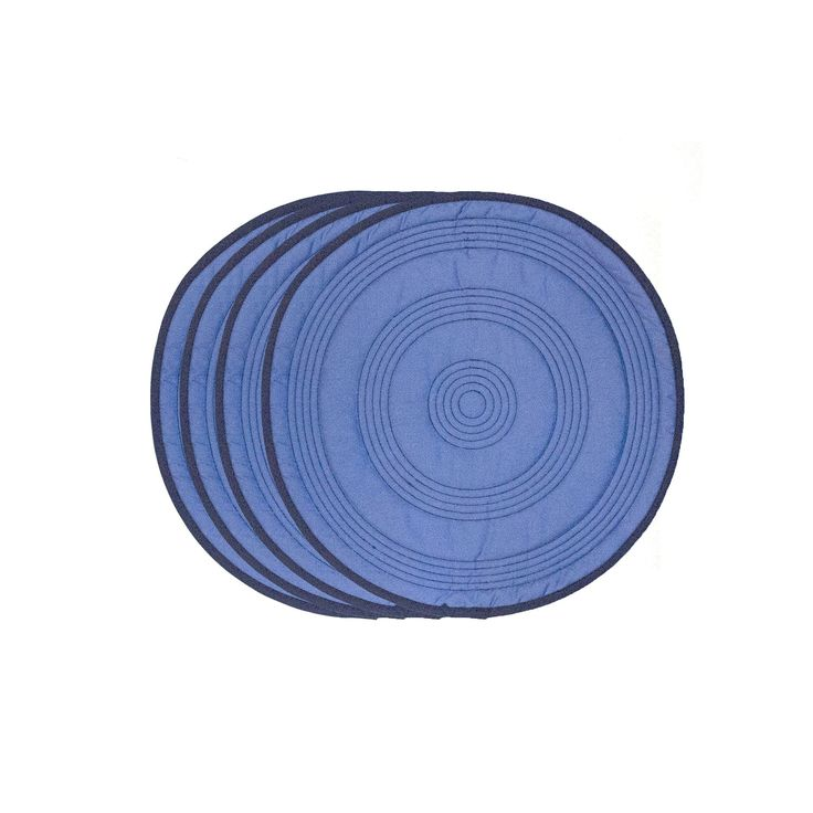 Fiesta Target Quilted 4-pk. Placemats, Blue