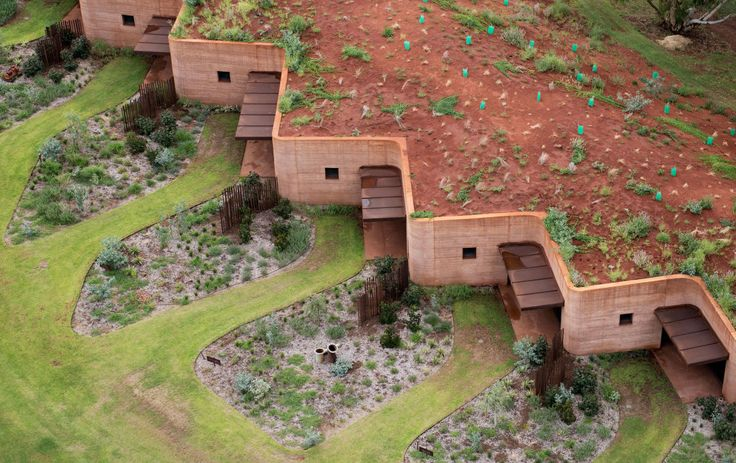 230 Metres of Rammed Earth Wall.