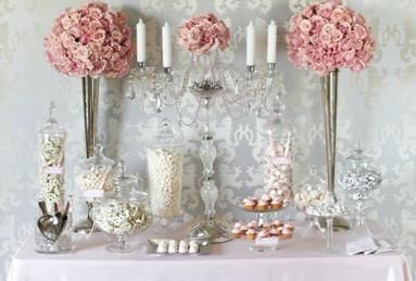 Pink Wedding Candy Station Buffet Sweet Treat Of Love