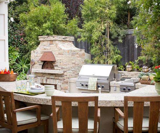 große Terrasse Garten Sitzecke