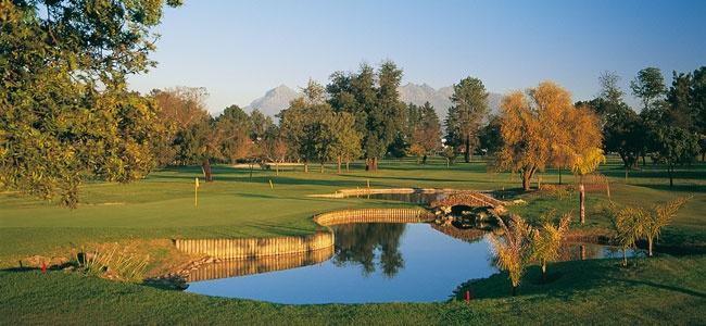 Stellenbosch Golf Course a half hour from Franschhoek and La Clé des Montanges