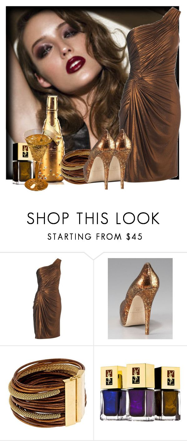 """""""CHEERS!!!! HAPPY THANKSGIVING!!!!!!!!"""" by finderskeepers ❤ liked on Polyvore featuring Biba, Brian Atwood, Citrine by the Stones, Yves Saint Laurent, niemen marcus and ysl"""