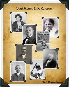 Check out this great product from writebonnierose.com/! Black History Essay Questions. Challenge your students to go deeper in their studies of these fifteen influential African Americans. A short bio of each individual is given as well as essay questions to encourage reflection. Many of the essay questions look at the role faith in God had in their lives and challenge students to look at its role in their own lives as well.
